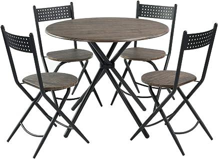 Beau HOMY CASA Ensemble De 5 Tables De Salle à Manger, Table Ronde Industrielle  Kithcen Avec