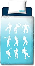 Fortnite Official Single Shuffle Design | Reversible Two Sided Battle Royale Bedding Duvet Cover with Matching Pillow Case, Blue