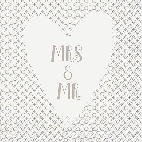 Pixie Mrs & Me 3 Plis Imprimé Serviette en Papier par Stewo/Lot de 20–33 x 33 cm
