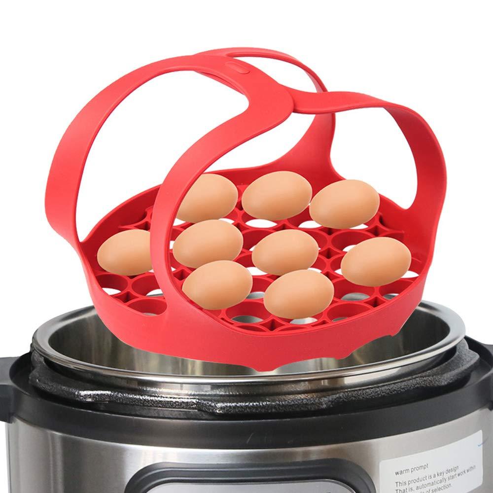 WYJP - Eslinga de silicona para olla a presión (6 qt/8 qt antiquemaduras), color rojo, apta para lavavajillas: Amazon.es: Hogar
