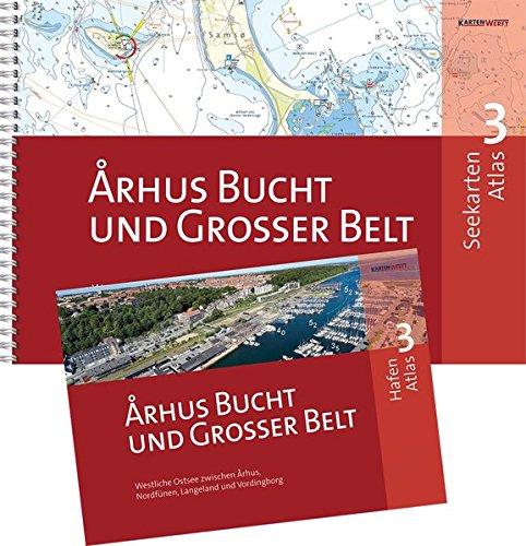 SeeKarten Atlas 3 | Aarhus Bucht und Grosser Belt: Westliche Ostsee zwischen Aarhus, Nordfyn, Langeland und Vordingborg