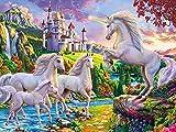 Kit de bordado, pintura de diamantes redondos, diamantes de imitación de animales, arte, bordado de diamantes, Kit de artesanía de caballo, regalos navideños A6 30x40cm