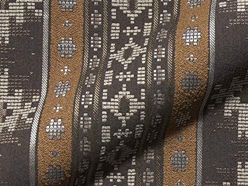 Tissu d'ameublement CANAZEI 804 - Couleur : Marron - Tissu d'ameublement à Rayures pour la Couture et Les Relations, Polyester, polyacrylique, Maison de Campagne