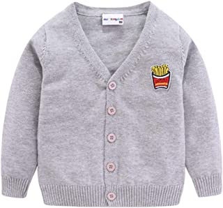 Little Boys Girls Cardigan Sweater Cute Cartoon Lightweight