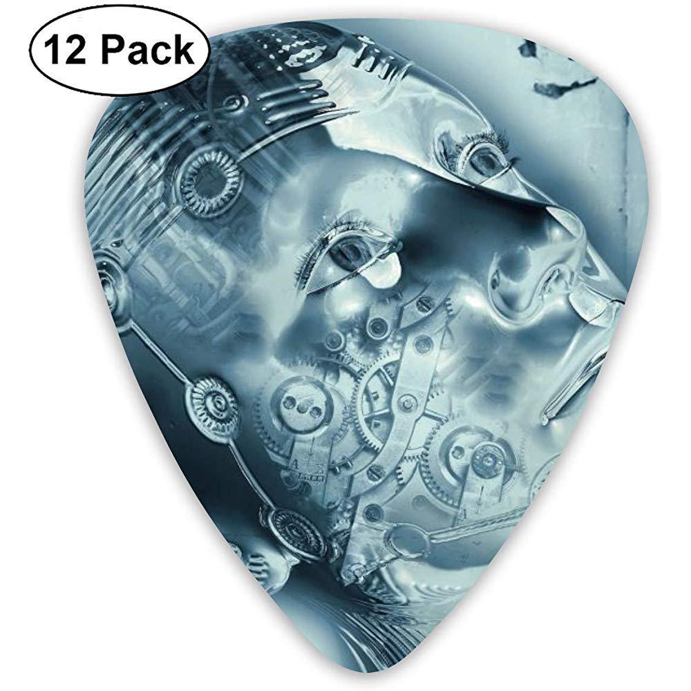 12 Pack Púas de guitarra Plectrums AI Inteligencia artificial Celuloide Guitar Pick Set para guitarra eléctrica acústica Bass Mandolin Ukulele 0.46mm 0.71mm 0.96mm: Amazon.es: Instrumentos musicales