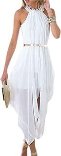 KingField Women's Chiffon Greek Goddess Fairy High Low Outer Maxi Inner Mini Beach Party Dress