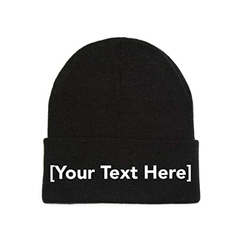 127e1a3eb65e04 Custom Beanie Personalized with Your Own Text Embroidered Gifts Winter Hat  Men Women Warm Knit Cuff