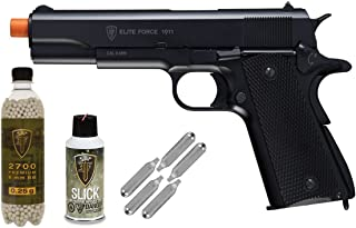 Elite Force 1911A1 Full Metal CO2 Blow Back Airsoft Pistol - Package Deal
