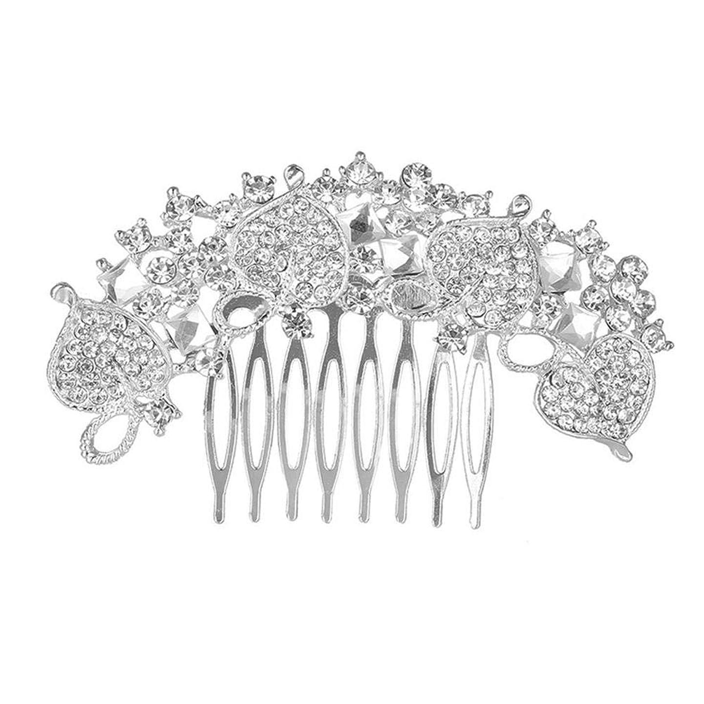 財産偶然のグリース髪の櫛、櫛、花嫁の髪の櫛、クラウン髪の櫛、結婚式のアクセサリー、ラインストーンの髪の櫛、ブライダルヘアアクセサリー