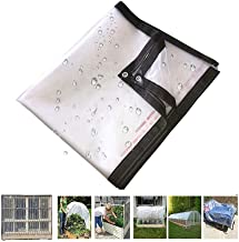 Pengfei Transparant afdekzeil, waterdicht afdekzeil, voor kas of balkon, regenbestendig, koudebestendig, beschermzeil, maa...