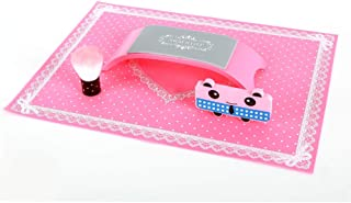 Hand Pillow for Nails, Manicure Table Mat Made in Silicone Foldable Washable Soft Arm Rest Cushion for Nails Salon Color Pink