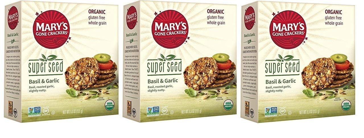 Mary's Gone Free shipping anywhere in Tulsa Mall the nation Crackers Super Seed Pack and Garlic Cracker Basil