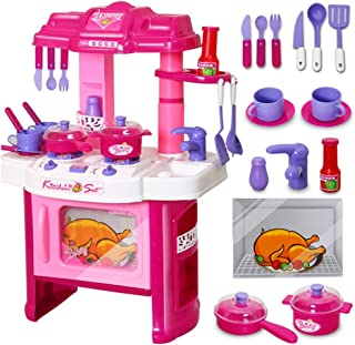 Kitchen Set Liberty Imports Deluxe Beauty Kitchen Appliance Cooking Play Set 008-26 Pretend & Dress Up