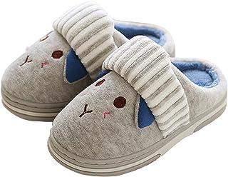 e542ae055ca1 ONCAI Kid s Cute Bunny Cotton Plush Warm House Slippers Non-Slip for  Toddler Little Kid