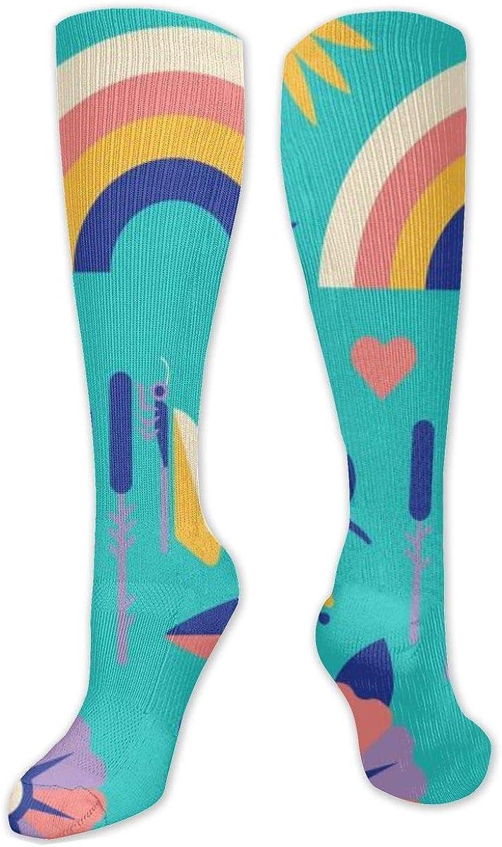 Cartoon Cute Pattern Knee High Socks Leg Warmer Dresses Long Boot Stockings For Womens Cosplay Daily Wear