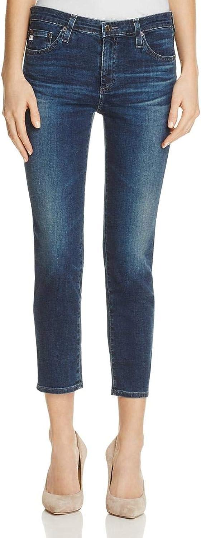Adriano goldschmied Womens Denim MidRise Straight Crop Jeans