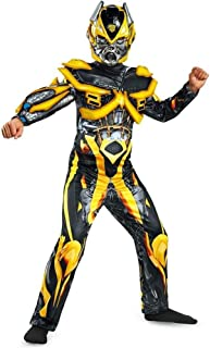 Hasbro Transformers Age of Extinction Movie Bumblebee Deluxe Boys Costume, Large/10-12