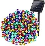 Qedertek Luci Natale Esterno Solare 22M 200 LED, Luci Stringa Impermeabile da Giardino Impermeabile, Luci...