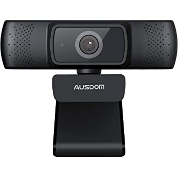 Webcam 1080P Full HD, AUSDOM AF640 Auto Focus Video Camera with Microphone for Skype YouTube Live Streaming, USB Web Cam Plug and Play, Compatible with Mac OS, Android and Window 10/8/7