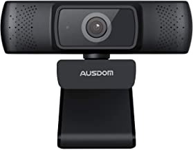 Autofocus 1080P Webcam with Privacy Cover, AUSDOM AF640 Full HD Business Web Camera with Dual Noise Reduction Microphones,...