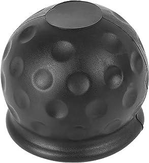 X AUTOHAUX Anhängerkupplung Ball Abdeckung Gummi Abschleppkupplung Schutzkappe 1,97 Inch schwarz