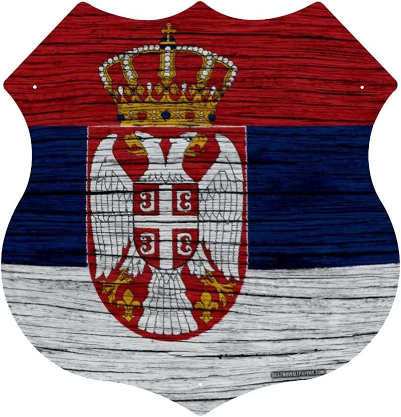 CHUFZSD Wooden Texture Serbian Flag Pictu Art Metal Max 59% OFF Wall Hanging Special sale item
