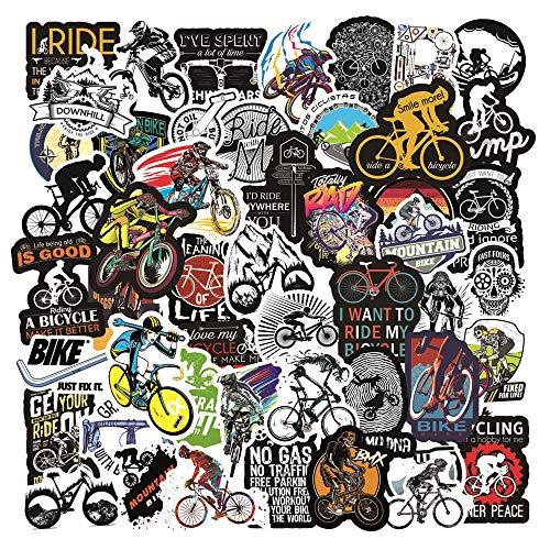 YCYY 50 Ciclistas Todoterreno de montaña Burst Graffiti Pegatina Caja de Palanca monopatín refrigerador Pegatina para portátil