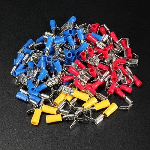 ZHENWOFC 100 STÜCKE Zurück Piggy Back Spaten Crimp Connector Terminal 0,5-6,0mm 10-22AWG PVC Hardware-Ersatzteile