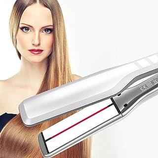 Hair Straightener, Infrared Wide-faced Splint Ceramic Hair Straightener, Five-speed Adjustable Temperature, Wet and Dry, D...