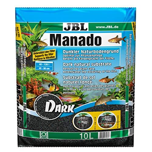 JBL Manado Dark 6703700, Naturbodengrund, 10 l, Dunkelbraun