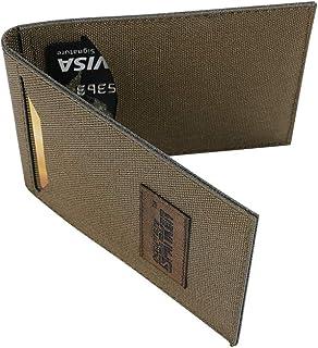 EXCELLENT ELITE SPANKER Slim Thin Bifold Front Pocket Card Holder Credit Card ID Case with 2 Card Slots(Ranger Green)