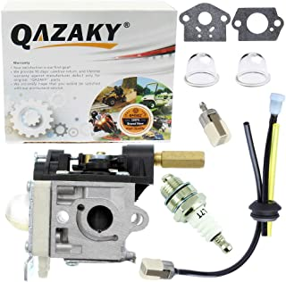 QAZAKY Carburetor Kit Replacement for Zama RB-K112 Echo SRM-266 SRM-266S SRM-266T SRM-266U PPT-266 PPT-266H PE-266 PE-266S PAS-266 SHC-266 HCA-266 String Trimmer Brushcutter Carb A021003830 A021003831
