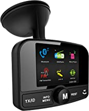 "FirstE Car DAB+ Radio Adapter Bluetooth FM Transmitter, Portable DAB Digital Radio Tuner Car Bluetooth Receiver and SD Card Player Hands Free Calling with Active 3M Antenna and AUX IN/OUT 2.4"" TFT Color Display"