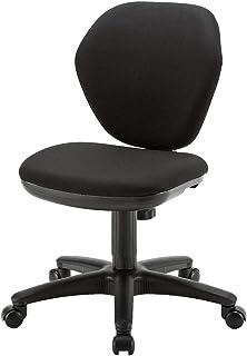 サンワダイレクト オフィスチェア コンパクト 高さ調節 ロッキング機能付き 組み立て簡単 キャスター付き ブラック 100-SNC025BK