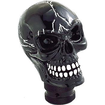 Bashineng Skull Gear Shifter Handle Devil Head Shape Auto Car Stick Shift Knob Fit Most Manual Transmissions Black