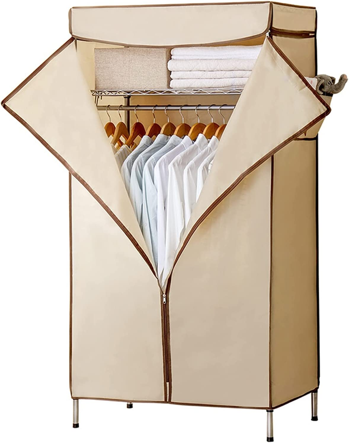 Wardrobe Portable Oxford for Ranking TOP2 Clothes Loa Hanging Popular standard Strong