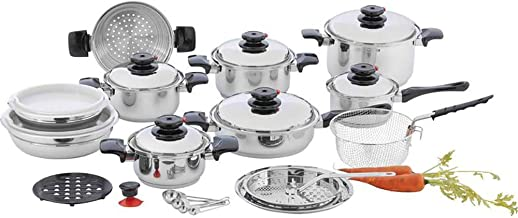 Chef's Secret 28 Piece 12-Element T304 Stainless Steel Waterless Cookware
