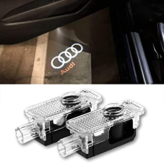 2 Pcs Car Door LED Logo Light Laser Projector Lights Ghost Shadow Welcome Lamp Easy Installation for Audi A1 A3 A4 A5 A6 A7 A8 Q3 Q7 R8 TT Accessories