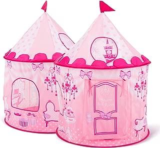 Sparkly Emma Princess Castle Kids Play House Toy Kitchen Pop UpTent 43''D x 54''H Child Tunnels Storage Designer's Children Furniture Room Decoration …