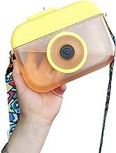 thorityau Leuke waterflessen met rietjes, nieuwe plasticCamera-vormige waterfles, transparante sapdrinkbeker geschikt voor...