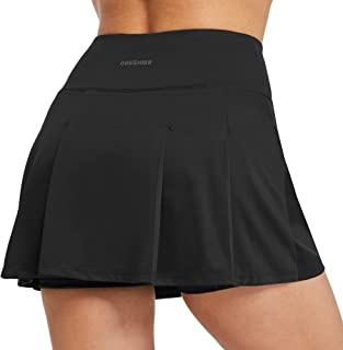 Ogeenier Women's Tennis Skirts with Shorts Pleated Mini Athletic Golf Skorts with Pockets for Running Workout Sports