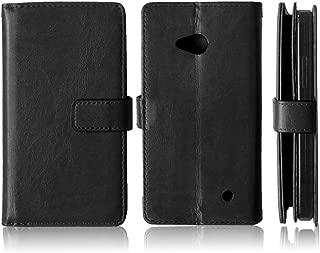 Lumia 640 Case,Lumia 640 LTE Case,XYX [Kickstand] Lumia 640 Black Case,[Built-in 9 Credit Card Slots][Flip][Wallet Feature] Premium Protective Case for Microsoft Lumia 640 LTE (Black)