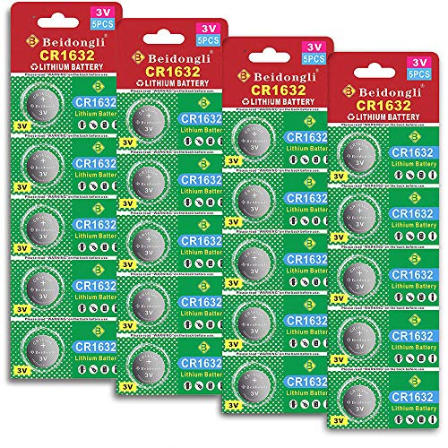 CR1632 3 Volt Lithium Coin Cell Battery (20 Batteries)【5-Years Warranty】