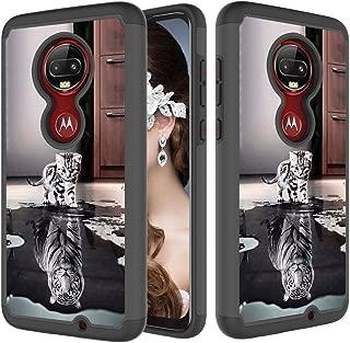 StarCity Motorola Moto G7 Case, [Drop Protection] Hybrid Armor Shockproof Case Heavy Duty Case for Motorola Moto G7 / G7 Plus (Cat & Tiger)