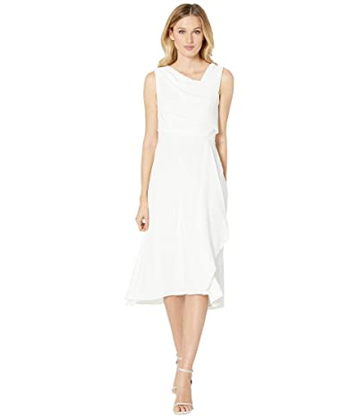 Adrianna Papell Soft Draped A-Line Dress (Ivory) Women