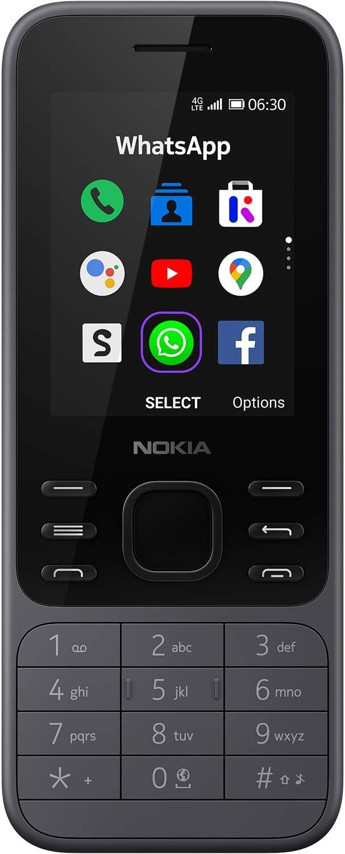 Nokia 6300 4G   Unlocked   Dual SIM   WiFi Hotspot   Social Apps   Google Maps and Assistant   Light Charcoal