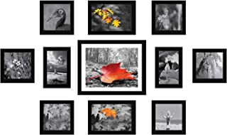 Amazon Brand - Solimo Collage Set of 11 Black Photo Frames ( 4 x 6 Inch - 2 & 5 X 5 Inch - 6, 5 X 7 inch - 2 & 8 X 10 inch...
