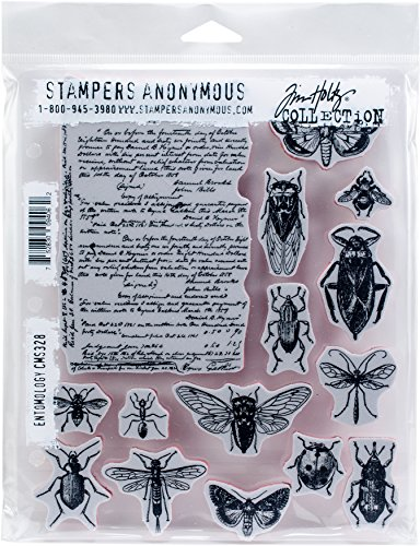 Tim Holtz Cling Mounted Stamps: Entomology - ,Multicolor
