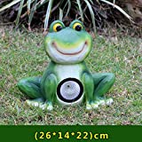 Für Garten Hof Terrasse,solar Froschlicht Statuen,grüner Frosch Garten Skulpturen Mit Led,Outdoor Harz Statuen,Frosch Solar Light Dekor A