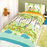 Juego de cama para niños con funda nórdica individual con estampado rotativo y...